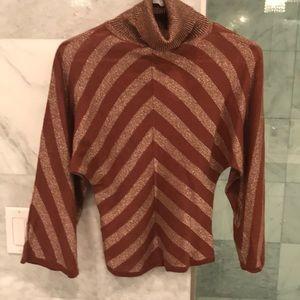 NWT Charlotte Russe Turtleneck Metallic Sweater